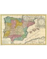 Antique Map Of Spain - Poster