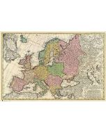 Antique Map Of Europe - Poster