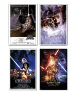 Star Wars: Episode IV, V, VI & VII - Movie Poster Set