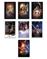 Star Wars: Episode I, II, III, IV, V, VI & VII - Movie Poster Set