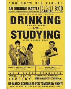 Drinking vs. Studying - Poster