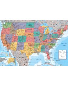 Map of the USA - Poster