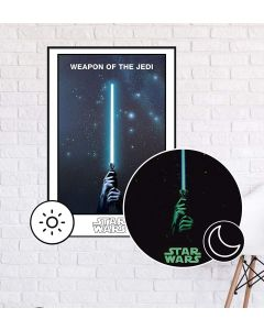 Star Wars - Glow In The Dark - Weapon Of The Jedi - Movie Poster - Animated