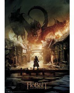 The Hobbit: The Battle Of Five Armies - Metallic Foil Movie Poster