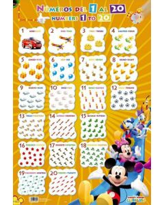 Mickey Mouse Clubhouse - Educational Poster