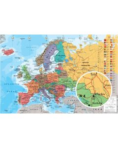 Map Of Europe - Poster