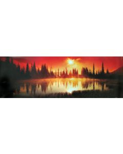 Sunset in the Rockies - Poster