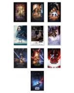 Star Wars: Episode I, II, III, IV, V, VI VII, VIII, IX & Rogue One - Movie Poster Set