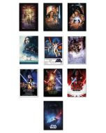 Star Wars: Episode I, II, III, IV, V, VI, VII, VIII, IX & Rogue One - Movie Poster Set
