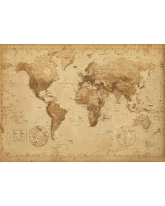 Antique Style World Map - Giant Poster