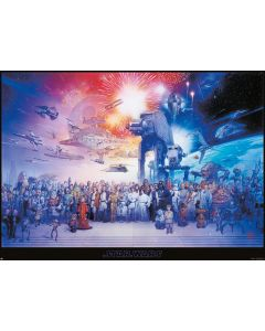 Star Wars: Episode I-VI Galaxy - Giant Movie Poster
