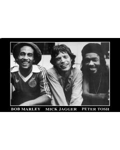 Bob Marley, Peter Tosh, Mick Jagger - Music Poster
