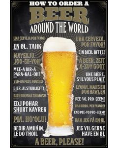 How To Order A Beer Around The World - Poster