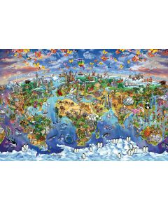 Animals - Map Of The World - Art Poster