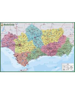 Map Of Andalusia - Poster