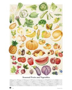 Seasonal Fruits And Vegetables - Poster