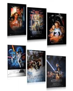 Star Wars: Episodes I, II, III, IV, V, VI - Movie Poster Set