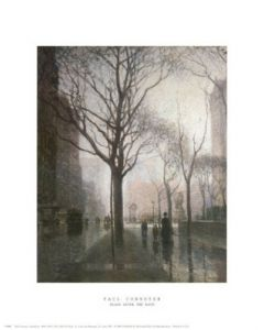 Plaza After the Rain - Art Print