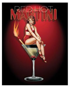 Red Hot Martini - Art Print